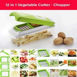12 in 1 Fruit & Vegetable Graters, Slicer, Chipser, Dicer, Cutter, Chopper