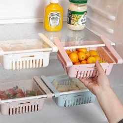 4 pcs Adjustable Fridge Storage Basket