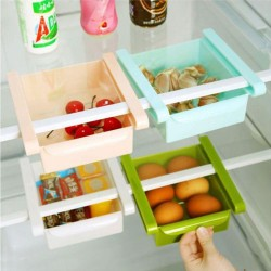 4 pcs Set Fridge Space Saver Organizer Slide Storage Rack Shelf Drawer