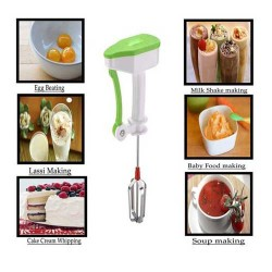 Egg Beater Lassi Butter Milk Maker Mixer Power Free Hand Blender